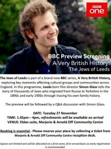 BBC Preview Screening - A Very British History: The Jews of Leeds @ Mazcc