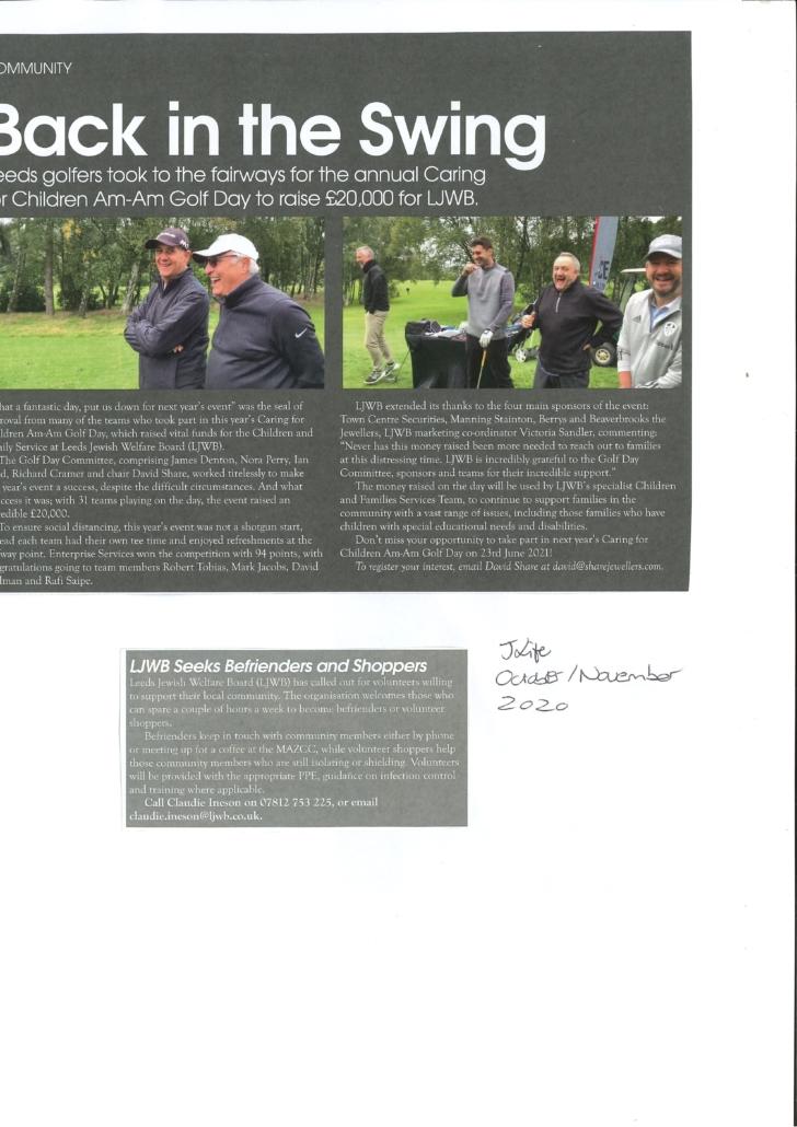 Golf Fundraiser 2020